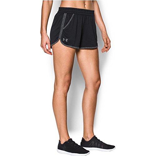 Under Armour Tech Short 2.0 Twist Pantalones Cortos, Mujer, Negro (Black), XS