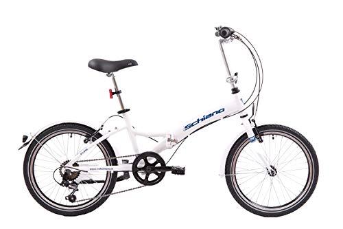 F.lli Schiano Pure Bicicleta, Adulto Unisex, Blanco-Azul, S