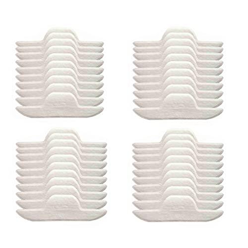 HUANGA 40 Piezas de Almohadillas de Sudor de Cuello de Verano Autoadhesivas para Camisa de Vestir Almohadillas de Revestimiento para el Cuello Camiseta Blanca Pegatinas desodorantes absorbentes