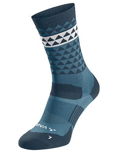 VAUDE - Calcetines unisex para bicicleta, Unisex adulto, Accesorios., 40135, Azul Gray, 45-47*