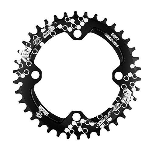 Chooee Plato de Aluminio con 30 Dientes para Bicicleta de montaña, con Distancia BCD de 104 mm, de Negro
