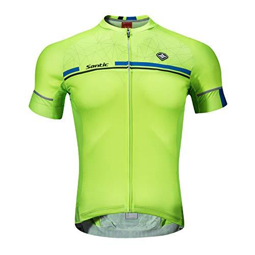 Santic Maillot Ciclismo Hombre Verano Maillot Bicicleta Montaña Bike MTB Camiseta con Mangas Cortas...*