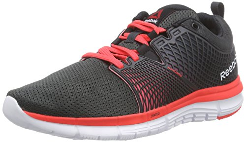 Reebok ZQuick Dash, Zapatillas de Running Mujer, Gris-Grau (Gravel/Black/Neon Cherry/White), 37 EU