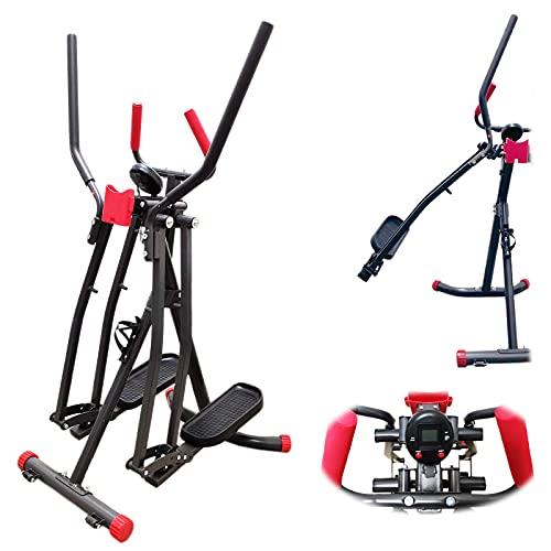FFITNESS, Ellittica Air Walker Slim Strider Pro (máx. 100 kg) Unisex Adulto, Negro, Única*