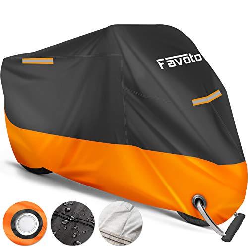Favoto Funda para Moto Cubierta de la Moto 210D Impermeable Protectora a Prueba de Sol Lluvia Polvo...*
