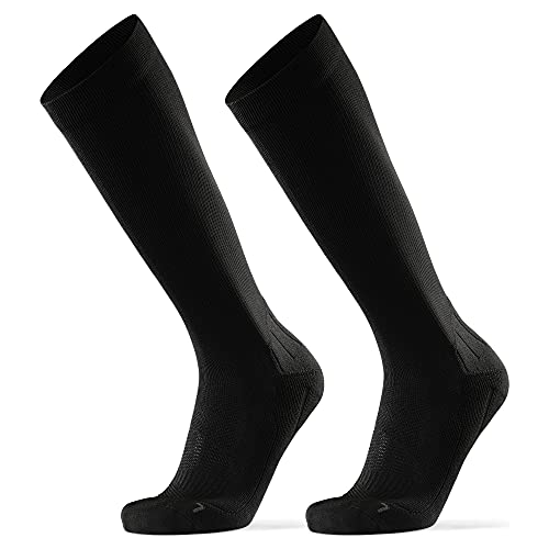DANISH ENDURANCE Calcetines de Compresión 2 pares (Negro sólido, EU 39-42)*