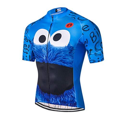 Shenshan Maillot de ciclismo de manga corta para hombre