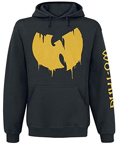 Wu-Tang Clan Sliding Logo Hombre Sudadera con Capucha Negro M