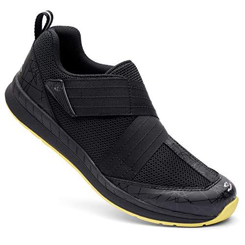 Spiuk Sportline Indoor Zapatilla Motiv, Adultos Unisex, Negro/Amarillo, T. 42