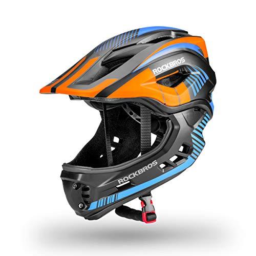 ROCKBROS Casco Integral Desmontable Niños para Bicicleta BMX Montaña Ciclismo Patinaje Casco de...*