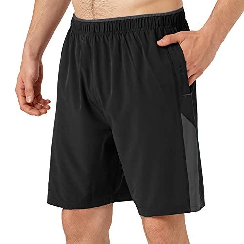 Kfnire Pantalones Cortos Hombre, Secado Rápido Short Hombre de Running Atletismo Fitness con...*