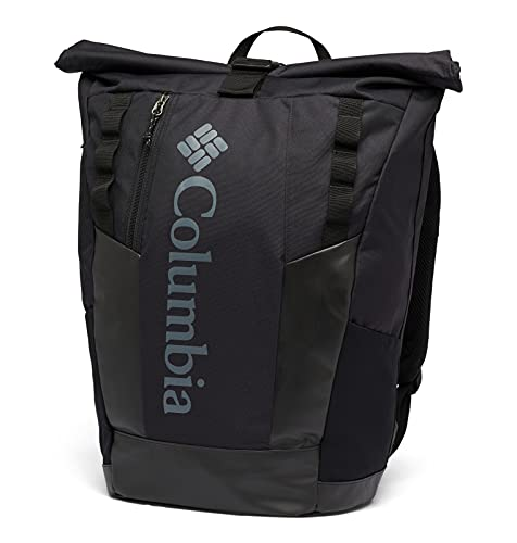 Columbia Convey 25L Rolltop Daypack Mochila, Unisex Adulto, Negro (Mountain Black Check Print), O/S*