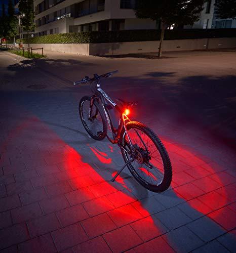 Fischer Juego de iluminación Trasera Doble con iluminación 360° para una Mayor Visibilidad y protección, baterías Recargables Mediante USB