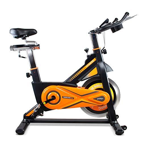 gridinlux. Trainer Alpine 8000. Bicicleta estática Spinning. Volante de Inercia 25 kg, Nivel Avanzado, Altura Ajustable, Pantalla LCD, Fitness, Unisex.