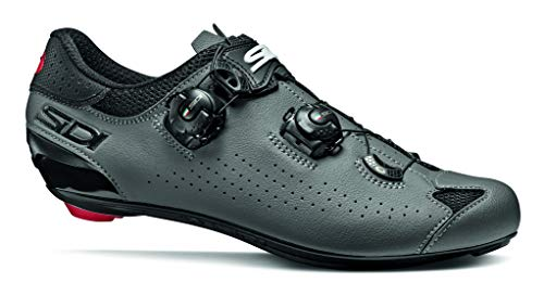 Sidi Genius 10 - Zapatillas Deportivas para Ciclismo, Color Negro y Gris, Talla 40