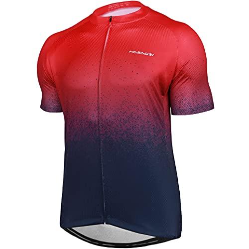 HASAGEI Maillot de ciclismo para hombre, secado rápido, camiseta de ciclismo para hombre, camiseta de manga corta