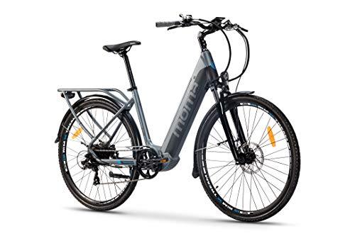 Moma Bikes Bicicleta Eléctrica Urbana EBIKE-28 Pro, Shimano 7vel, frenos hidráulicos, batería...*