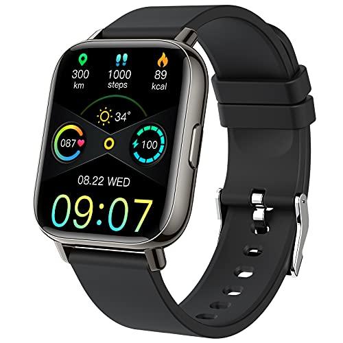 Smartwatch, 1.69'' Reloj Inteligente Hombre Mujer Pulsera Actividad Inteligente con Pulsómetro,Monitor de Sueño,Podómetro,Cronómetro, 24 Deportivos, Impermeable IP68 Reloj Deportivo para Android iOS