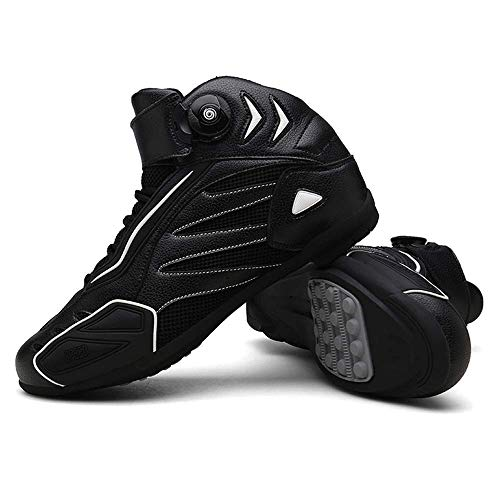 FACAI Otoño Invierno Zapatos De Ciclismo De Carretera Botas De Gran Tamaño para Bicicleta De Caña Alta Unisex Deportes Zapatillas De Ciclismo MTB Zapatillas De Bicicleta De Montaña,White-42