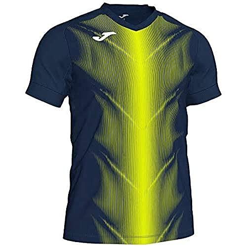 Joma Olimpia Camisetas, Hombre, Marino/Amarillo flúor, M