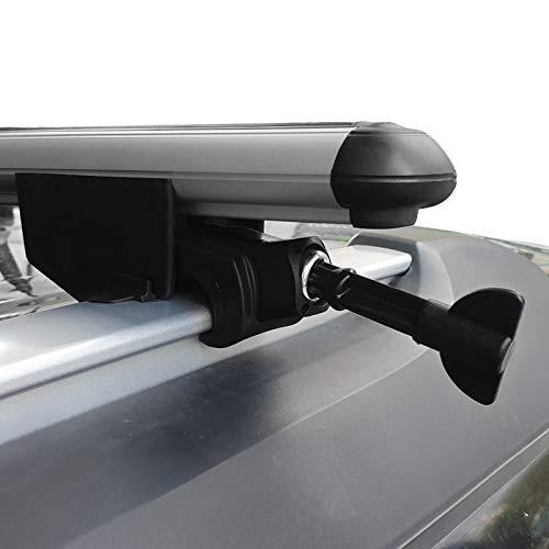 RE&AR Tuning Para Dacia Lodgy 5D 2012-2020 Barras de techo Con Cerradura Aluminio Gris*