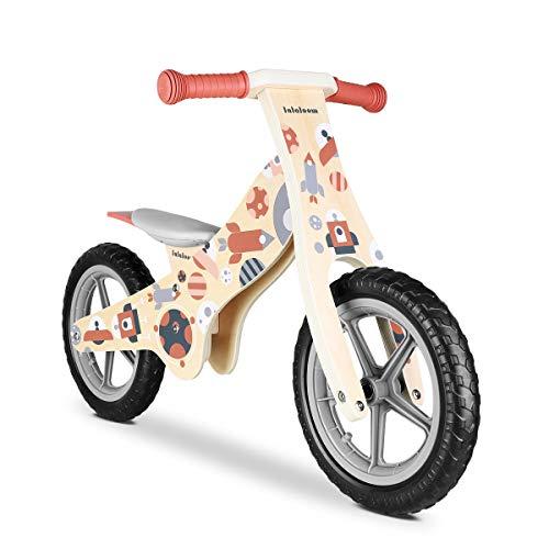 Lalaloom COSMO BIKE - Bicicleta sin pedales de madera para niños de 2 años (diseño espacio,...*