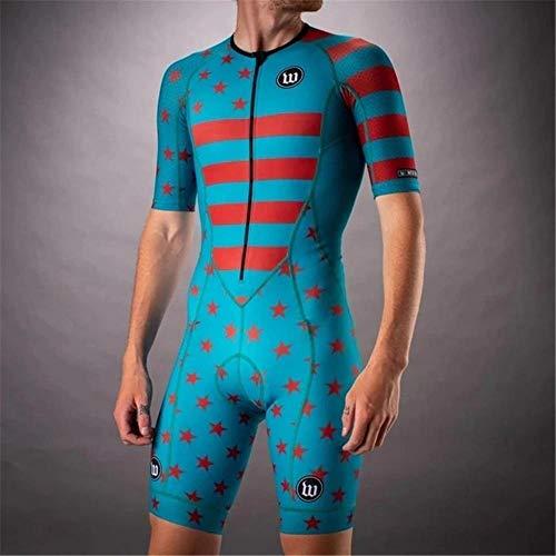 NHGFP QPM Jersey De Triatlón Skinsuit Vestimenta De Ciclismo Salpicaduras Hombre En Bicicleta Conjunto De Cuerpo Juego De Los Deportes De Velocidad MTB Mono (Color : 4, Size : 5XL)