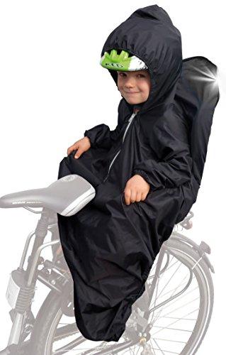 Sunnybaby 14490 - Chubasquero para asiento infantil de bicicleta (con mangas, líneas reflectantes y...*