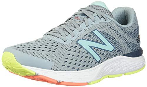 New Balance W680V6, Running Shoe Mujer, Light Slate/Stone Blue/Bali Blue, 37 EU