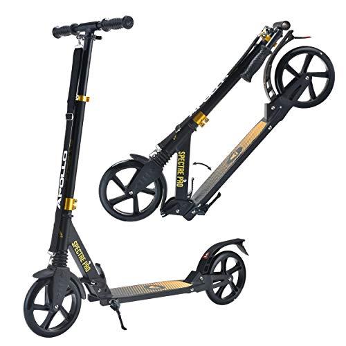 Apollo XXL Wheel Scooter 200 mm - Spectre Pro es un City Scooter de Lujo con suspensión Doble, City Roller XXL Plegable y Ajustable en Altura, Grande Kick+B3 Scooter para Adultos y niños