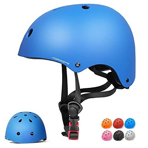 Casco Bicicleta para Niños Casco Infantil Ajustable para Monopatín Patinaje BMX Esquiar, Casco...*