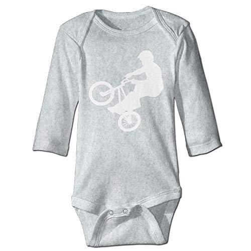 Body de manga larga para bebé con diseño de orugas, unisex, para niños, BMX y niñas, de manga larga, traje de sol, color ceniza