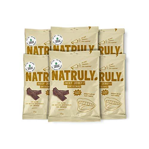 NATRULY Beef Jerky Original, Carne Seca 100% Vacuno, Sin Gluten, Sin Lactosa, Sin Azúcar, Sin...*