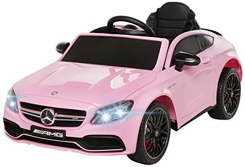 Actionbikes Motors Coche eléctrico Mercedes Benz C63 – Licencia – Asiento de piel – Mando a...*