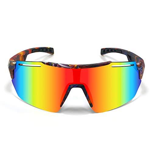 SHANMEI Gafas Ciclismo Polarizadas Fotocromaticas,Gafas de Sol Deportivas Hombre Mujer,Gafas MTB Bicicleta Montaña Hombre,Gafas Proteccion UV 400,Anti Viento Lente Running
