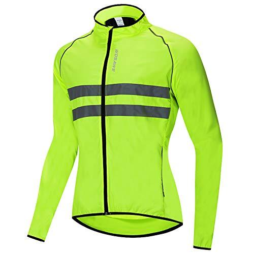 Roeam Chaqueta Cortaviento Hombre de Ciclismo,Resistente Viento y Agua,Tira Reflectante*