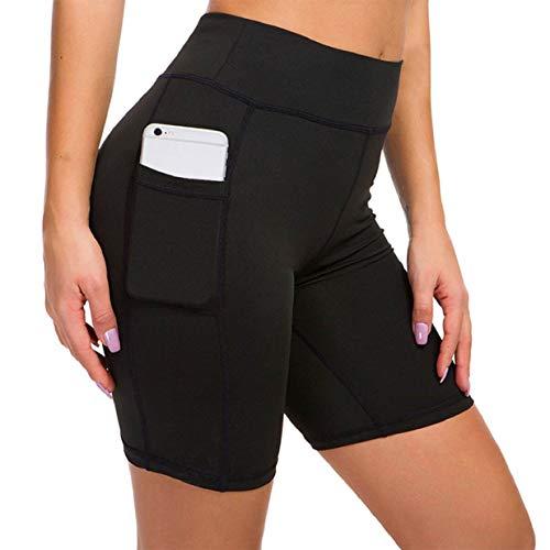 heekpek Leggings Cortos Mujer Pantalones Cortos de Yoga con Cintura Alta Legging Deportivo Corto con Bolsillos Pantalon Corto Deportivo Mujer Fitness Cortos de Verano