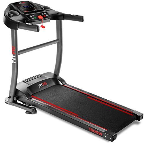 FITFIU Fitness MC-200 - Cinta de correr Plegable, velocidad ajustable hasta 14km/h, potencia de 1500W, superficie de carrera 40x110cm, pulsómetro, 12 programas entrenamiento, peso máx. 90kg