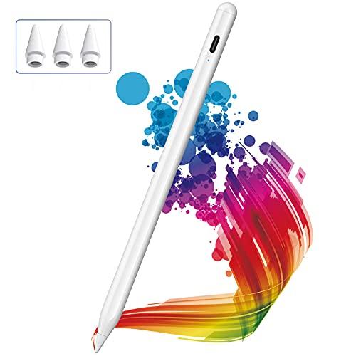 Lápiz para iPad 2018-2021, KINGONE Stylus Pen con Rechazo de Palma, iPad Pencil【Sin Demora/Detección de Inclinación】para iPad 6th-9th Gen, iPad Mini 5th Gen, iPad Air 3rd/4th Gen, iPad Pro 11''/12,9''