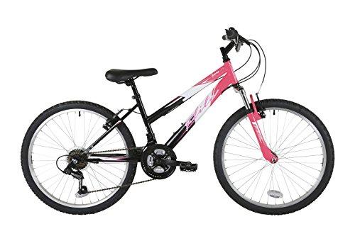 Flite fl075t niña Barranco Bicicleta, Ruedas de 24, Color Negro/Rosa*