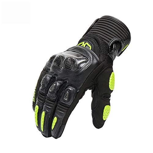 Thole Guantes Moto Malla Fibra Carbono para Motociclismo Motocross Enduro Dirt Bike MTB para Hombres...*