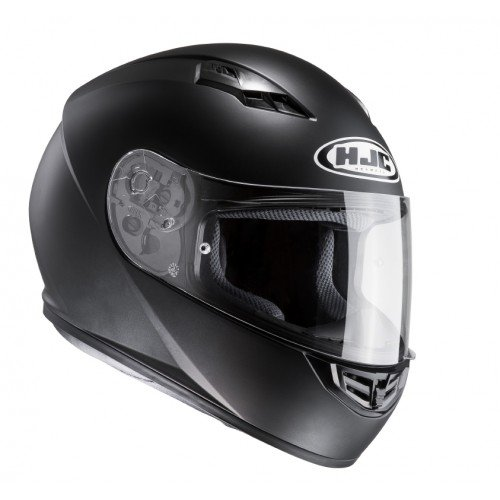 HJC 10107009 Casco de Moto, Semi Flat Negro, Talla L