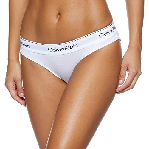 Calvin Klein underwear MODERN COTTON - BIKINI, Bikini Cullote para Mujer, Blanco (White 100), Medium*