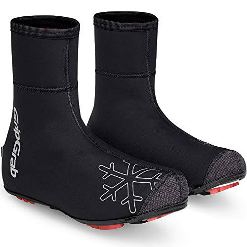 GripGrab Cubrezapatillas Ciclismo Arctic X Invierno Térmicos MTB Cortavientos 4mm Neopreno Impermeable con Forro Polar Cycling Equipment, Adultos Unisex, Negro, 48/49 EU