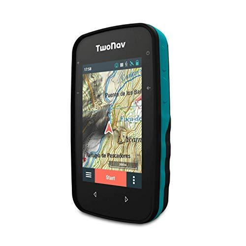 TwoNav - GPS Cross - Multideporte Bicicleta Ciclismo BTT Senderismo Trekking/Compacto y Ligero/Pantalla 3.2' / Autonomía 20 h/Memoria 32 GB/Mapa topográfico Incluido