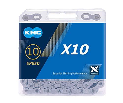 CADENA KMC X10 114 ESLABONES 10V. GRIS