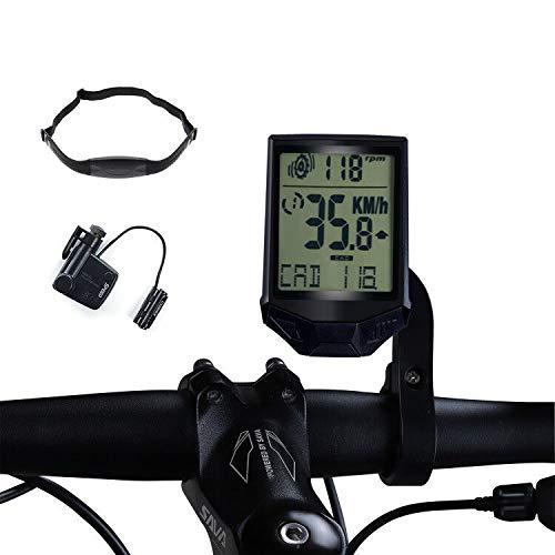 Frondent Velocímetro de bicicleta para ordenador, cuentakilómetros con cadencia, velocidad y...*