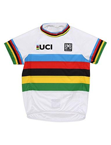 Santini Camiseta de Manga Corta para niño con diseño de campeón del Mundo UCI, Multicolor, Talla...*