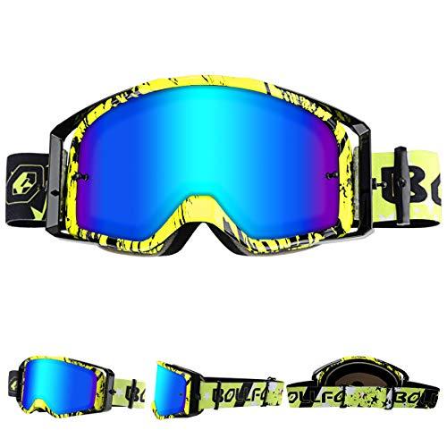 WholeFire Gafas de Motocicleta, ATV Dirt Bike Off Road Racing MX Riding Goggle, UV400 para Ciclismo,...*
