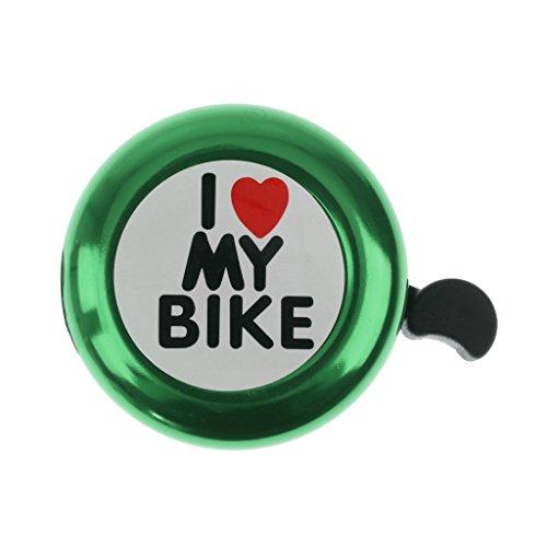 Amuzocity Campana De Bicicleta I Love My Bike para Niño Adulto - Verde*
